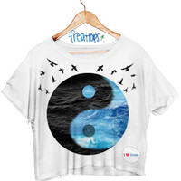 Beachy Yin Yang Crop Shirt