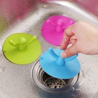 Kitchen Bathroom Hair Catcher Silicone Basin Sink Plug Floor Drain Cover Strainer Toilet Water Drains Bath Shower