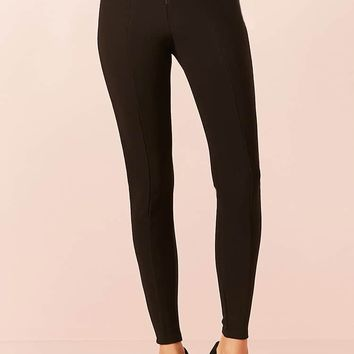 Ribbed Knit Pull-Ring Leggings