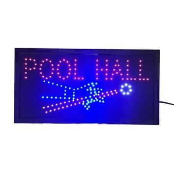 Neon Lights LED Animated Sign Lamp Billiards Pool Hall house Bar Pub 110V
