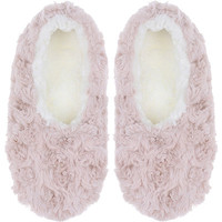 Pink Faux Fur Slipper Socks with Grippers | Ulta Beauty