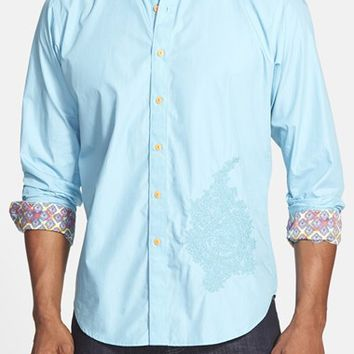 Men's Robert Graham 'Gemini II' Classic Fit Embroidered Sport Shirt