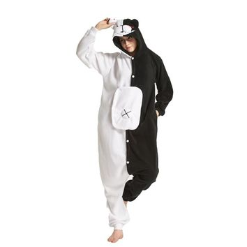 Adult Cartoon Monokuma Onesuits Brown Teddy Pedo Kumamon Rilakkuma Black Bear Animal Kigurums Pajamas Sleepwear Cosplay Costume