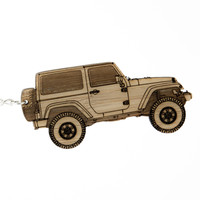 Jeep Wrangler Bamboo Keychains