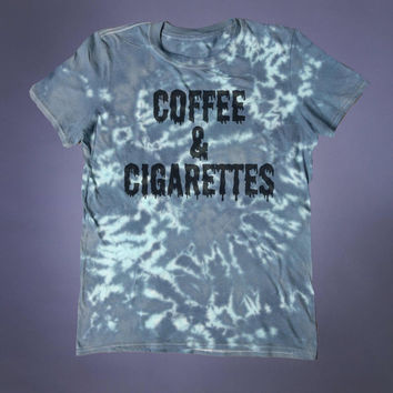 Coffee And Cigarettes Slogan Tee Grunge Punk Emo Hipster Tumblr T-shirt