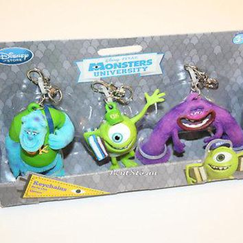 Licensed cool Monsters University Inc. 3D PVC Clip on Keychain Sulley Mike Art Disney Store