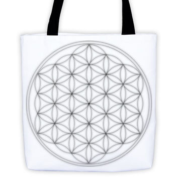 Metal Flower of Life Tote bag