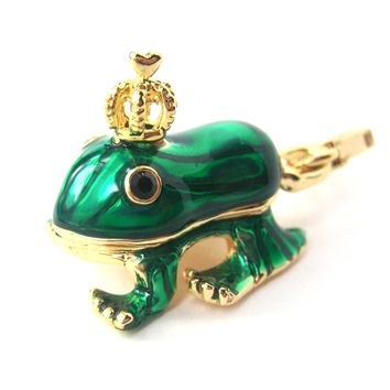 Frog Prince Animal Pendant Necklace | Limited Edition Animal Jewelry