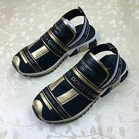 DOLCE&GABBANA D&G Elastic knitting with sandals
