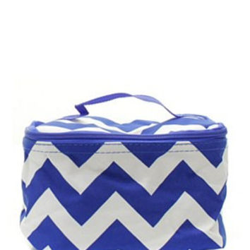 Chevron Small Cosmetic Bag - 3 Color Choices