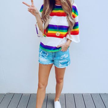 All Sunshine And Rainbows Top: Multi