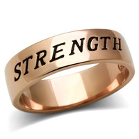 Strength Rose Gold Ring