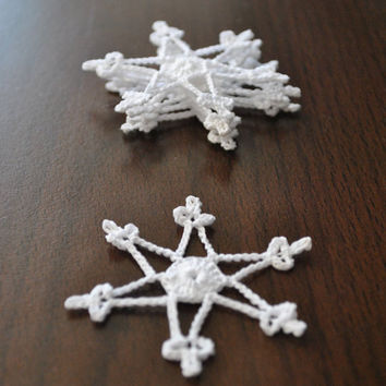 Crochet snowflake,Christmas decorations,Little Snowflake,Wedding Gift,Crochet ornaments,Scrapbooking crochet snowflakes,Handmade ornaments
