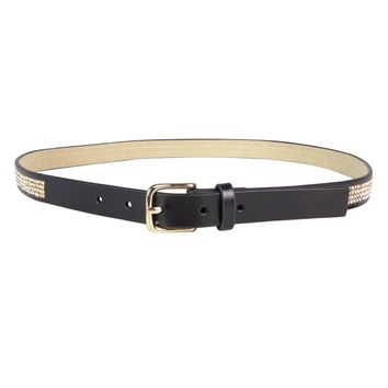 Style & Co. Women's Rhinestone Faux Leather Skinny Belt