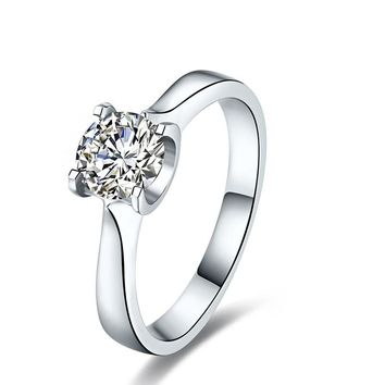 GIA Diamond Solitaire Engagement Ring for Women 0.3ct Natural GIA Diamond Jewelry Handmade Genuine Wedding Band