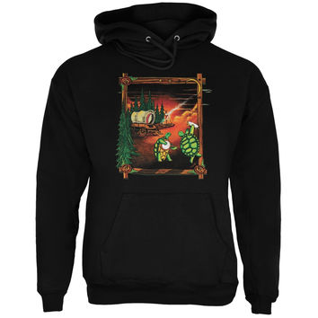 Grateful Dead - Covered Wagon Black Pullover Hoodie