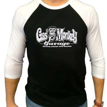 Gas Monkey Garage Three Quarter Sleeve Raglan Shirt