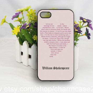 William Shakespeare iPhone 4s case,Love Sonnet phone case,samsung galaxy s3/s4/s5 case,iphone 4/4s case,iphone 5/5s/5c case,Personalized