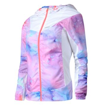 """Adidas"" Like Fashion Print Hooded Multicolor Zipper Cardigan Jacket Windbreaker"