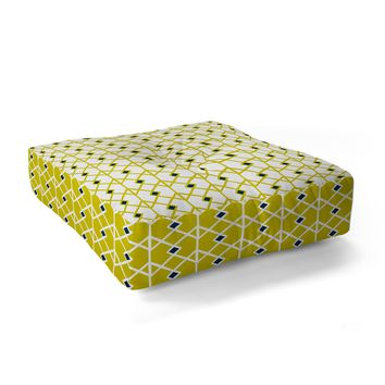 Heather Dutton Annika Diamond Citron Floor Pillow Square