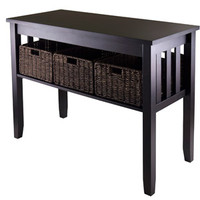 Walmart: Morris Console Table with 3 Baskets, Espresso