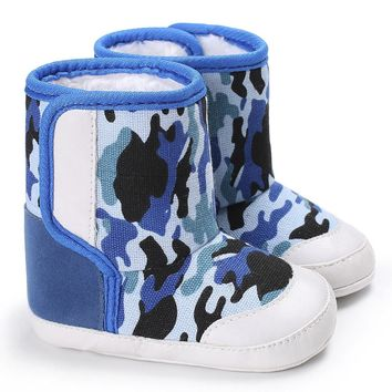 Camouflage Baby Soft Sole Snow Boots Soft Crib Shoes Toddler Cotton Boots Anti-slip
