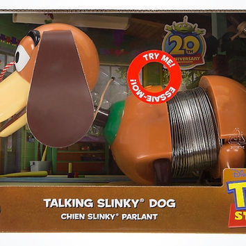 Disney Store 20th Toy Story Pixar Talking Slinky Dog New with Box