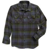 Boy's RVCA 'Telltale' Slim Fit Plaid Woven Flannel Shirt,