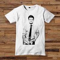 josh hutcherson 10x12 inch white T shirt White Black Dsign t-shirt men S,M,L,XL