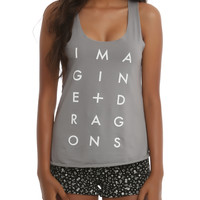 Imagine Dragons Stacked Logo Girls Tank Top