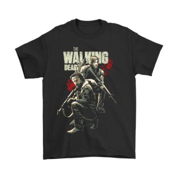 PEAP3CR The Walking Dead Rick Grimes And Daryl Dixon Shirts