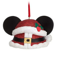disney parks christmas santa mickey  mouse ear hat ornament new with tag