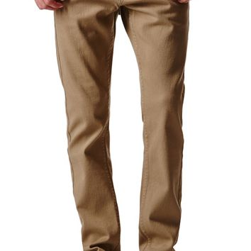 Bullhead Denim Co. Dark Khaki Twill Skinny Jeans - Mens Jeans - Antique