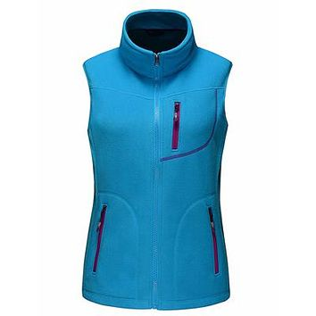 Women's Vest Winter Fleece Softshell Sleeveless Jackets Outdoor Sports Brand Clothing Coat Hiking Skiing Female Vests