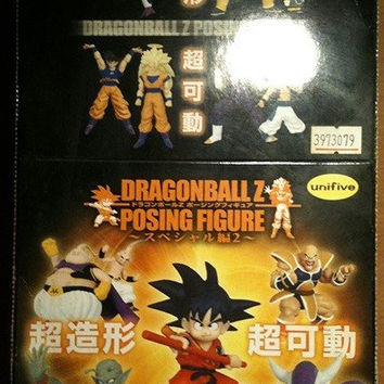 Bandai Dragon Ball Z Posing Best Collection 5 Color 5 Monochrome 10 Trading Figure Set Used