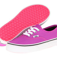Vans Kids Authentic (Little Kid/Big Kid) (Neon) Purple/True White - Zappos.com Free Shipping BOTH Ways