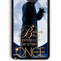 Samsung Galaxy Note 3 Case - Rubber (TPU) Cover with Once Upon a Time Captain Hook Believe Design