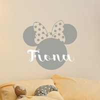 Mickey Mouse Wall Decal Bow Art Decals Vinyl Stickers Baby Nursery Room Kids Wall Decor Mural Interior Design MN1037