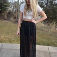 Electric Feel Maxi Skirt - Black