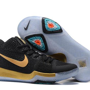 Nike Kyrie Irving 3 Black/Gold Sport Shoes US7-12