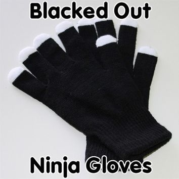 Blacked Out Ninja Gloves