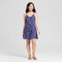 Women's Floral Print Halter Dress - Le Kate (Juniors')