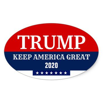 PRESIDENT DONALD TRUMP 2020 BUMPER STICKER