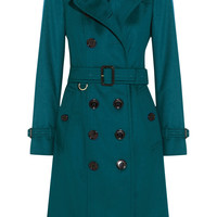 Burberry London - Brushed-cashmere trench coat