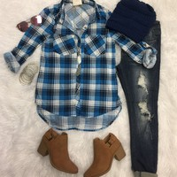 What I like about you Plaid Flannel Top