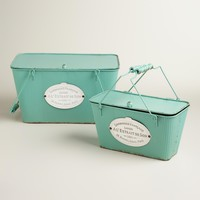Aqua Metal Marcie Boxes with Lid
