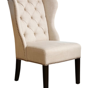 Abbyson Living Kyrra Tufted Wingback Dining Chair