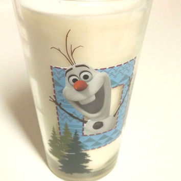 Frozen Soy Candle - 16 oz Olaf Glass - CHOICE OF SCENT