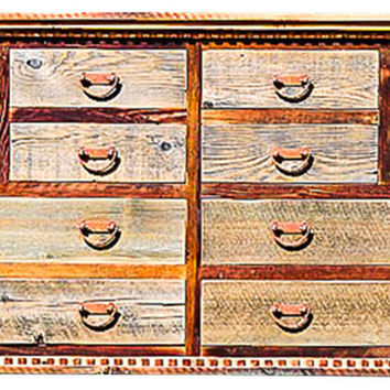 Rustic Reclaimed Barnwood Dresser Country Roads Collection