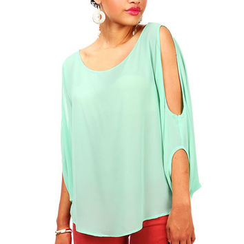 Bare Batwing Blouse